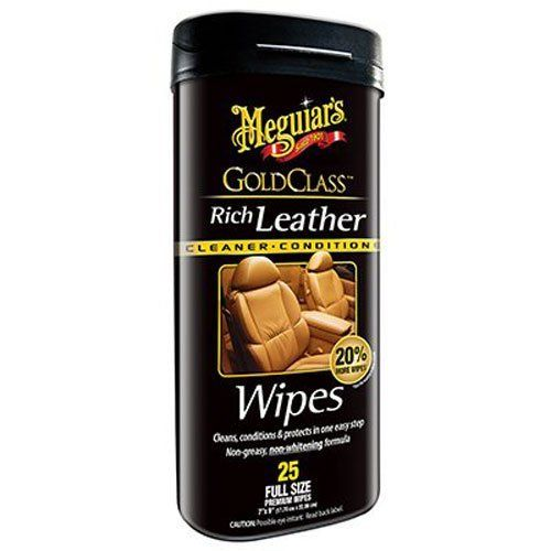 Meguiar's Rich Leather Wipes, 25kpl