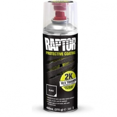 U-Pol Raptor Liner 2K spray musta 400ml